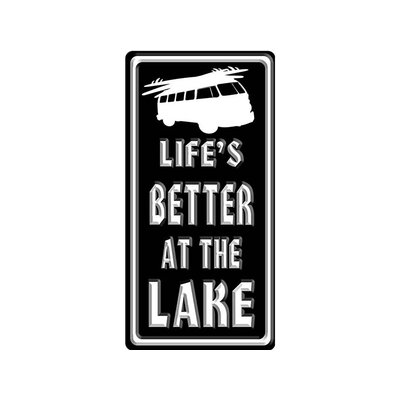 'Life is Better at the Lake*Bus' Textual Art W14-GT063