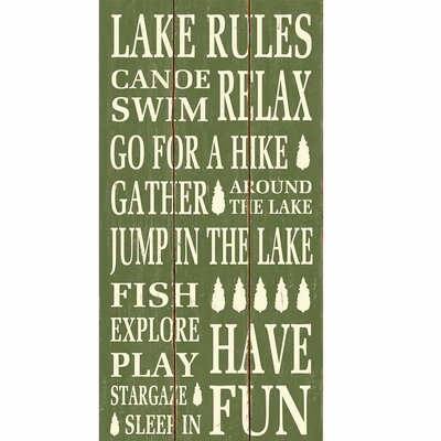 'Lake Rules' Textual Art LNTS2750 40572093