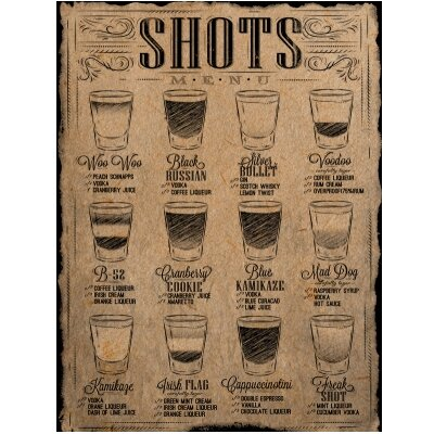 'Shorts Menu' Vintage Advertisement WNPR5491 40567256