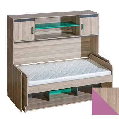 Ultimo Transformer Twin Murphy Bed Color: Violet