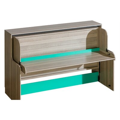 Ultimo Transformer Twin Murphy Bed Color: Green