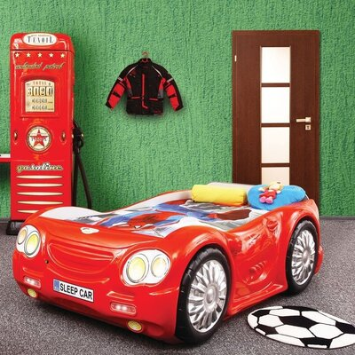 Sleep Race Twin Car Bed Finish: Red