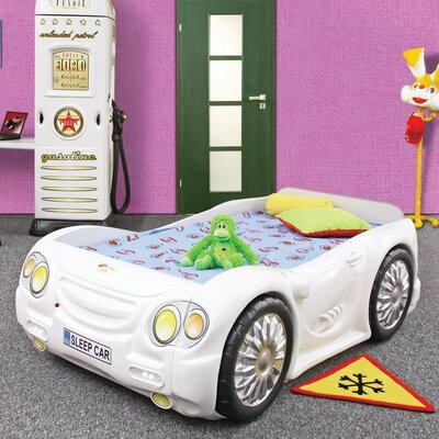 Sleep Race Twin Car Bed Finish: White