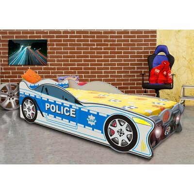 Zig Zag Police Twin Car Bed