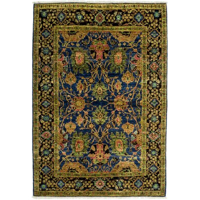 One-of-a-Kind Eclectic Hand-Knotted Blue / Green Area Rug