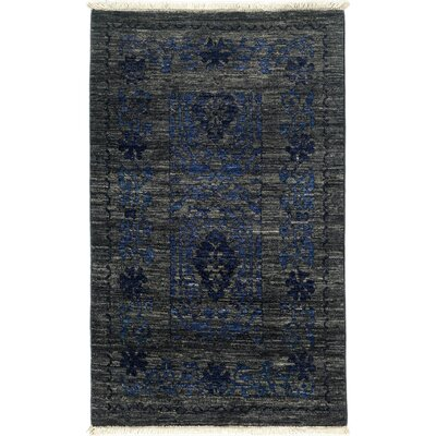 Eclectic Hand-Knotted Gray / Blue Area Rug