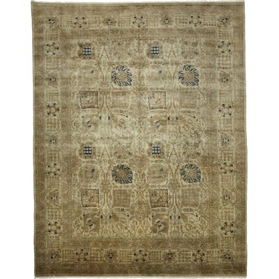 One-of-a-Kind Vibrance Hand-Knotted Light Olive Area Rug
