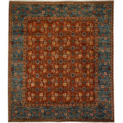 One-of-a-Kind Ziegler Hand-Knotted Rust Area Rug