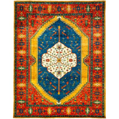 Ziegler Hand-Knotted Yellow Area Rug