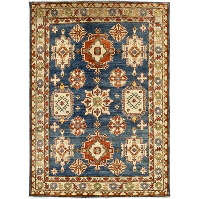 One-of-a-Kind Kazak Hand-Knotted Blue / Beige Area Rug