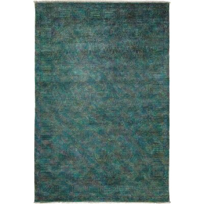 One-of-a-Kind Vibrance Hand-Knotted Lime Area Rug