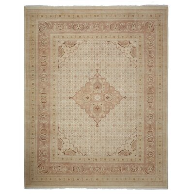 Oushak Hand-Knotted Light Beige Area Rug