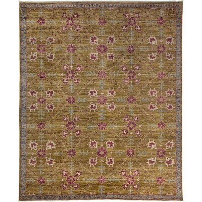 Oushak Hand-Knotted Olive Area Rug