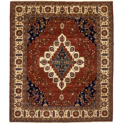 Ziegler Hand-Knotted Rust Area Rug
