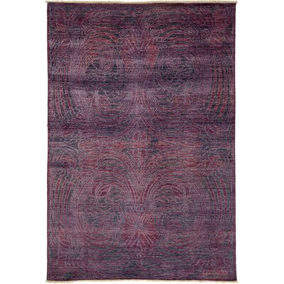 Ziegler Hand-Knotted Purple Area Rug