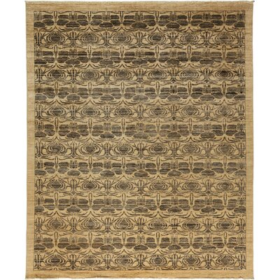 One-of-a-Kind Oushak Hand-Knotted Beige / Brown Area Rug