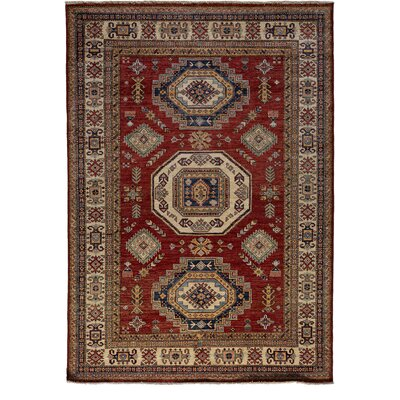 One-of-a-Kind Kazak Hand-Knotted Rust Area Rug