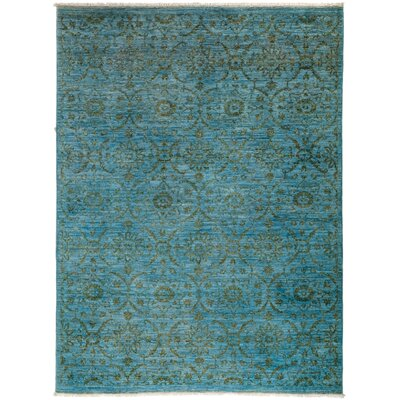 Vibrance Hand-Knotted Blue / Green Area Rug