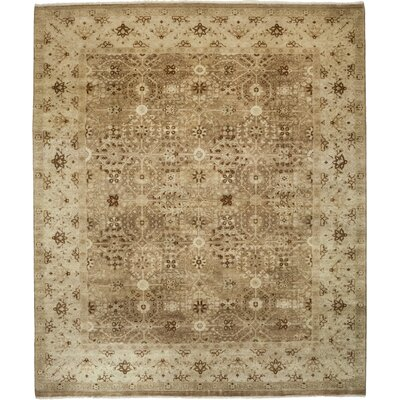 One-of-a-Kind Oushak Hand-Knotted Beige /Brown Area Rug