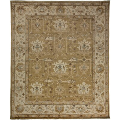 One-of-a-Kind Oushak Hand-Knotted Khaki Area Rug