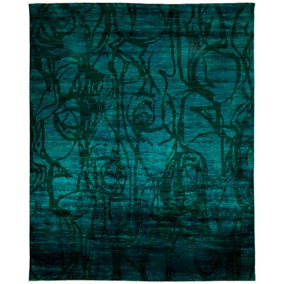 Vibrance Hand-Knotted Green / Black Area Rug