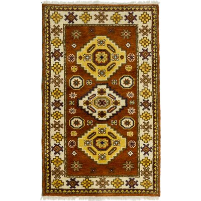 One-of-a-Kind Ardabil Hand-Knotted Brown / Yellow Area Rug