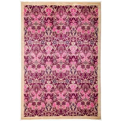 One-of-a-Kind Arts and Crafts Hand-Knotted Pink / Purple Area Rug