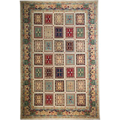 One-of-a-Kind Khyber Hand-Knotted Ivory Area Rug