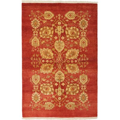 Ottoman Hand-Knotted Red Area Rug