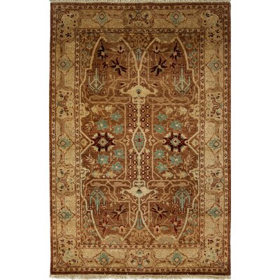 One-of-a-Kind Ottoman Hand-Knotted Chocolate Area Rug