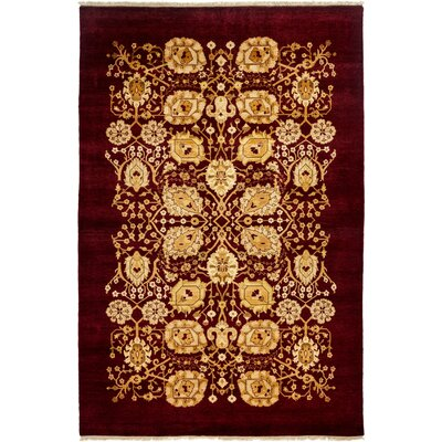 One-of-a-Kind Ottoman Hand-Knotted Gold / Red Area Rug