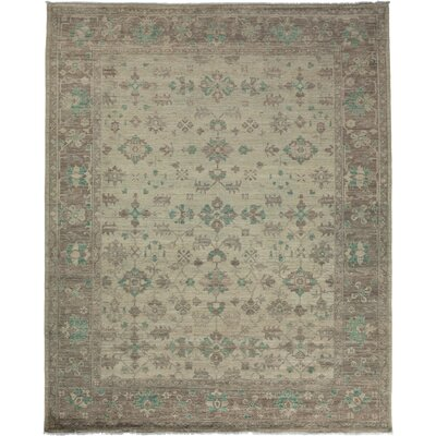 One-of-a-Kind Oushak Hand-Knotted Sand Area Rug