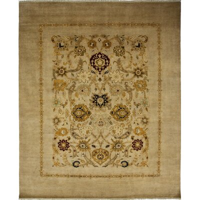 One-of-a-Kind Ottoman Hand-Knotted Sand Area Rug