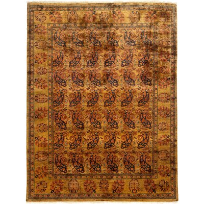 One-of-a-Kind Ottoman Hand-Knotted Gold Area Rug