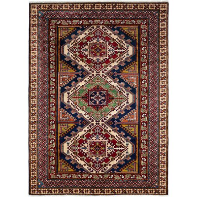 One-of-a-Kind Shirvan Hand-Knotted Red / Brown Area Rug