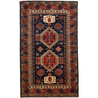 Shirvan Hand-Knotted Blue / Red Area Rug