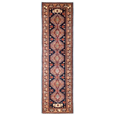 One-of-a-Kind Shirvan Hand-Knotted Blue / Red Area Rug