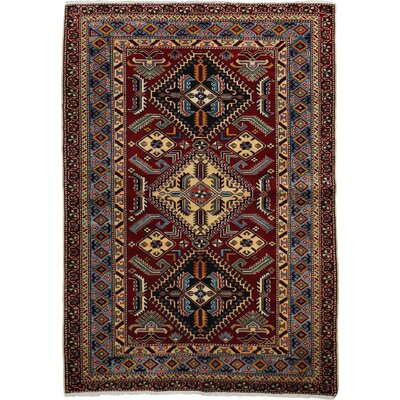 One-of-a-Kind Shirvan Hand-Knotted Blue / Brown Area Rug
