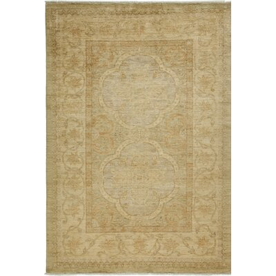 One-of-a-Kind Oushak Hand-Knotted Lemon Area Rug