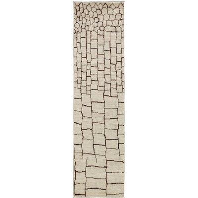 One-of-a-Kind Vibrance Hand-Knotted Beige Area Rug
