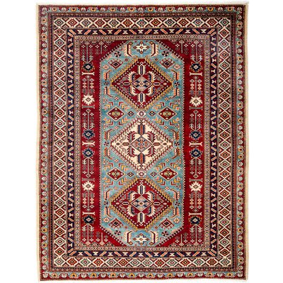 One-of-a-Kind Shirvan Hand-Knotted Red / Blue Area Rug