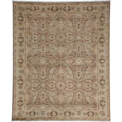 One-of-a-Kind Oushak Hand-Knotted Gray / Beige Area Rug