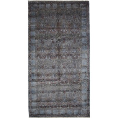 One-of-a-Kind Vibrance Hand-Knotted Dark Blue Area Rug