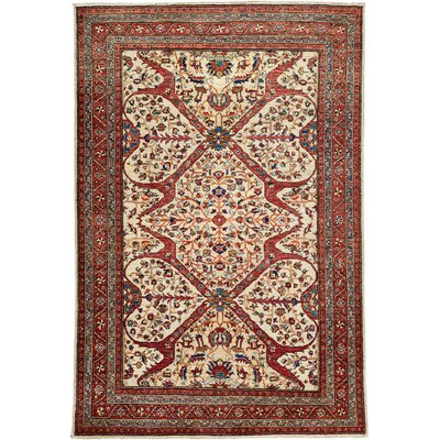 Oushak Hand-Knotted Red Area Rug