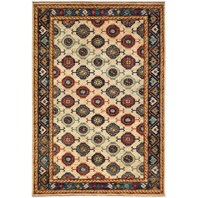 One-of-a-Kind Ziegler Hand-Knotted Beige / Blue Area Rug