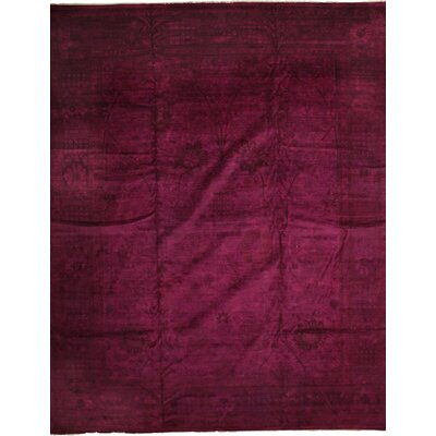 One-of-a-Kind Vibrance Hand-Knotted Purple Area Rug