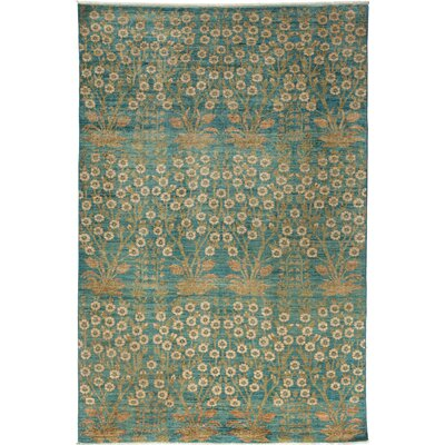 One-of-a-Kind Ziegler Hand-Knotted Light Blue Area Rug