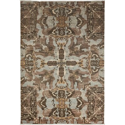 Ziegler Hand-Knotted Brown/Gray Area Rug