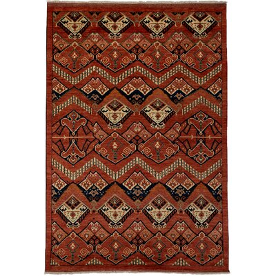 One-of-a-Kind Ziegler Hand-Knotted Red Area Rug