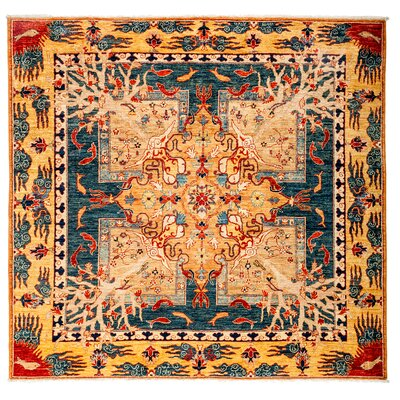 One-of-a-Kind Ziegler Hand-Knotted Orange/Blue Rug